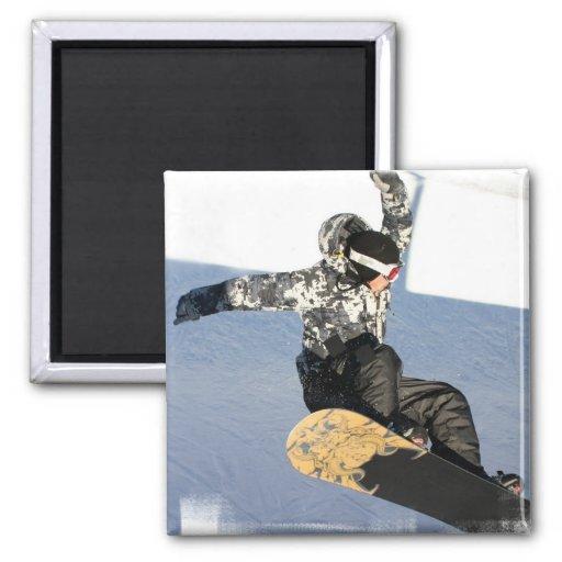 Snowboard Launch Magnet Refrigerator Magnet