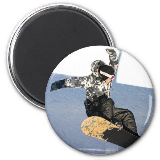 Snowboard Launch Magnet Fridge Magnets