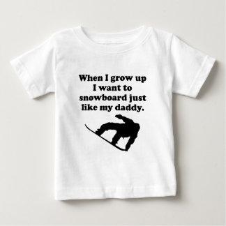 Snowboard Like My Daddy Baby T-Shirt