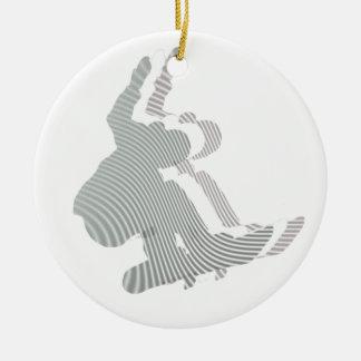 Snowboard Logo Design Ornament