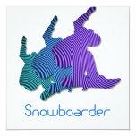 Snowboard Logo Invitation