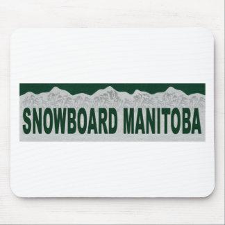 Snowboard Manitoba Mouse Pads
