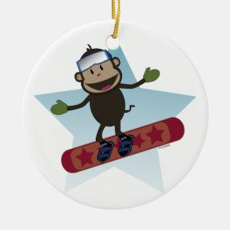 Snowboard Monkey ornament