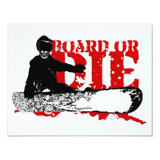 snowBOARD OR DIE 11 Cm X 14 Cm Invitation Card