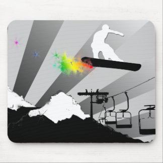 snowboard. powder trail. mouse pads