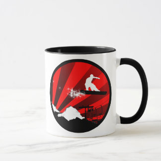 snowboard : powder trail mug