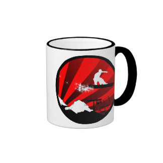 snowboard : powder trail coffee mugs