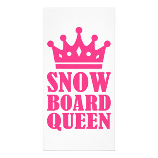 Snowboard queen champion personalized photo card