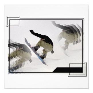 Snowboard Rails Invitaiton Invite