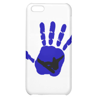 Snowboard Riot Blues iPhone 5C Covers