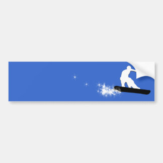 snowboard. simple. bumper sticker