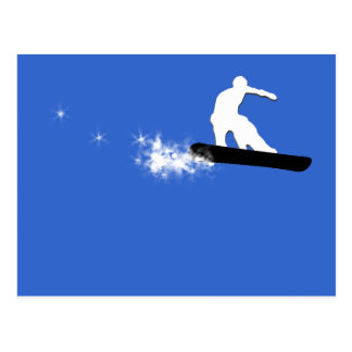 snowboard. simple. postcard