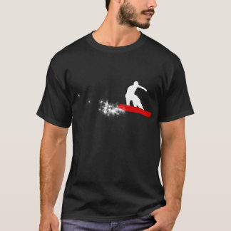 snowboard. simple. red. T-Shirt
