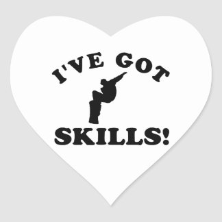 snowboard sklsss   Vector Designs Heart Sticker