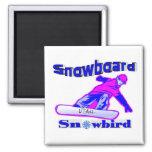 Snowboard Snowbird Refrigerator Magnets