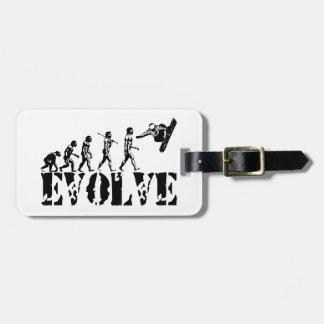 Snowboard Snowbording Sport Evolution Art Bag Tag