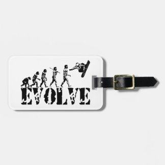 Snowboard Snowbording Sport Evolution Art Luggage Tag