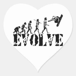 Snowboard Snowbording Sport Evolution Art Heart Sticker