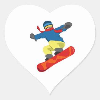 Snowboard Heart Sticker