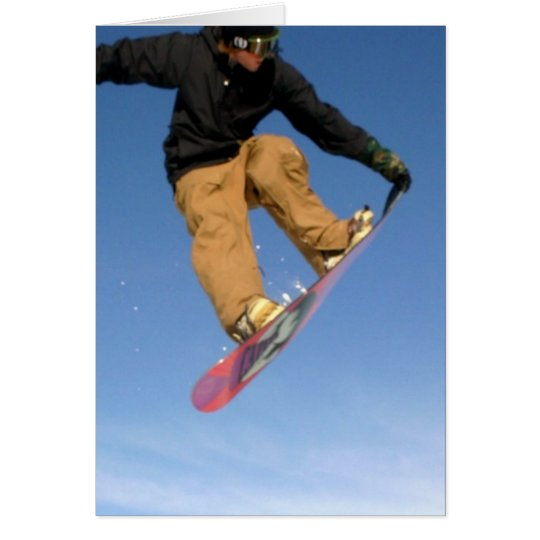 Snowboard Tail Grab Greeting Card