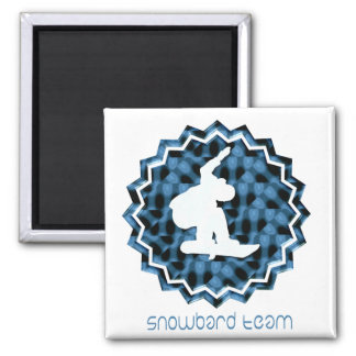 Snowboard Team  Magnet Magnets