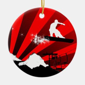 snowboard trail christmas ornament