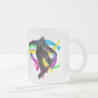 Snowboard Trick Frosted Glass Coffee Mug