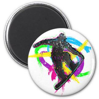 Snowboard Trick 6 Cm Round Magnet