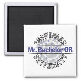Snowboard University - Mt. Bachelor OR Square Magnet