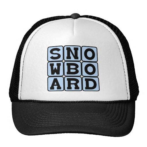 Snowboard, Winter Sport Mesh Hat