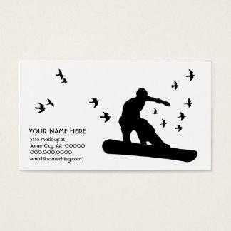 snowboard with birds