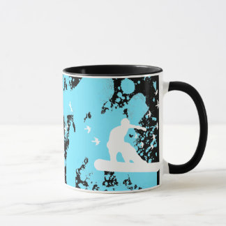 snowBOARD with birds Mug