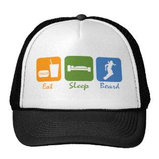 SnowBoardChick Eat Sleep Board Trucker Hat