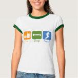 SnowBoardChick Eat Sleep Board T-Shirt