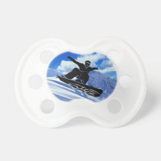 snowboarder baby pacifier