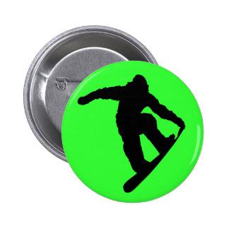 Snowboarder 6 Cm Round Badge