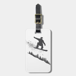 Snowboarder Bag Tag