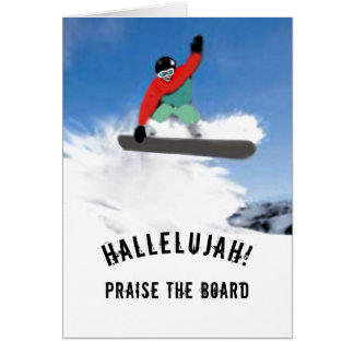 Snowboarder Birthday Card