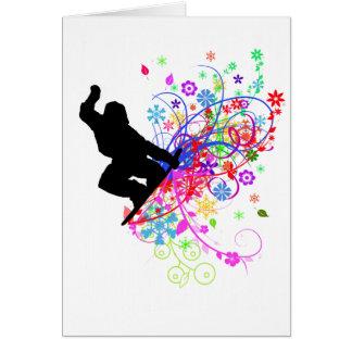 Snowboarder card