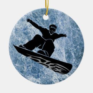 snowboarder christmas ornament
