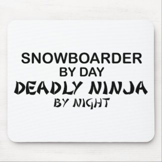 Snowboarder Deadly Ninja by Night Mouse Mats