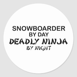 Snowboarder Deadly Ninja by Night Stickers
