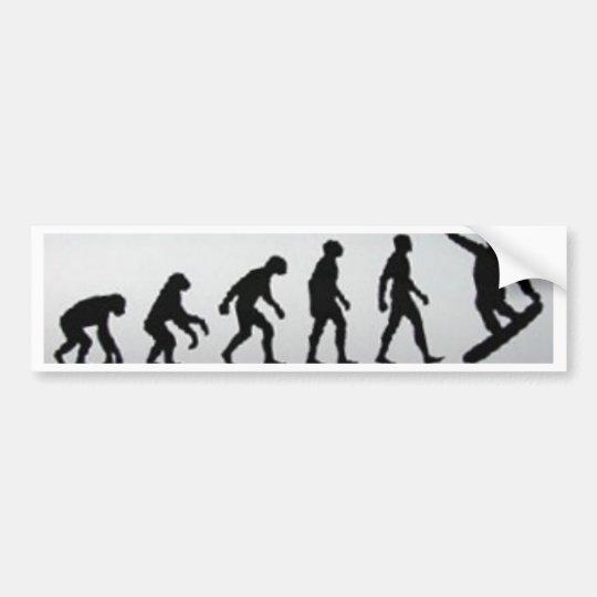 snowboarder evolution bumper sticker