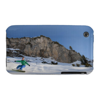 Snowboarder free riding iPhone 3 Case-Mate case