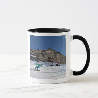Snowboarder free riding mug