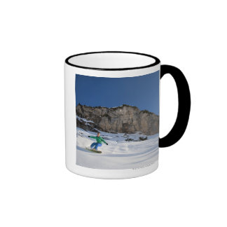 Snowboarder free riding mugs