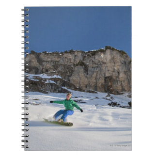 Snowboarder free riding notebook