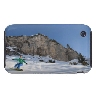 Snowboarder free riding tough iPhone 3 covers