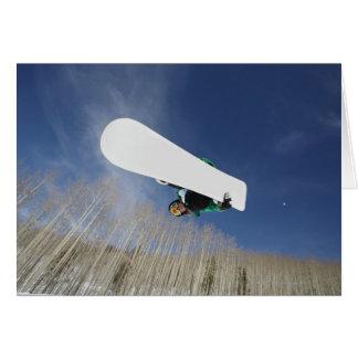Snowboarder Getting Vert Card