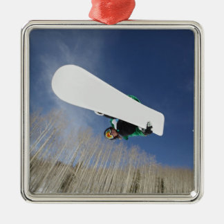 Snowboarder Getting Vert Christmas Ornament